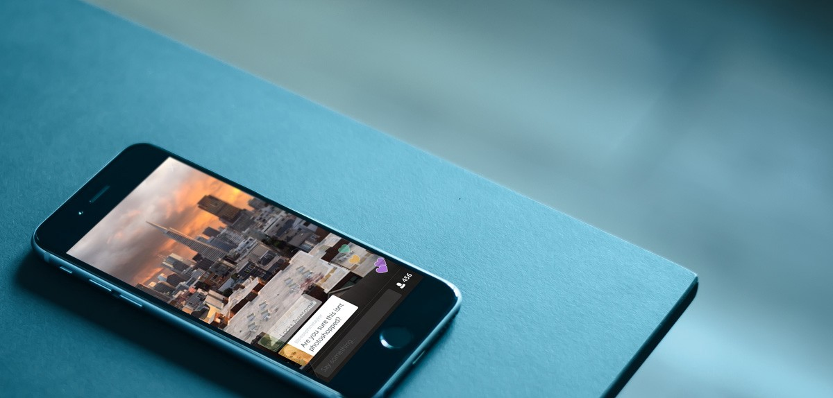 periscope application mock up