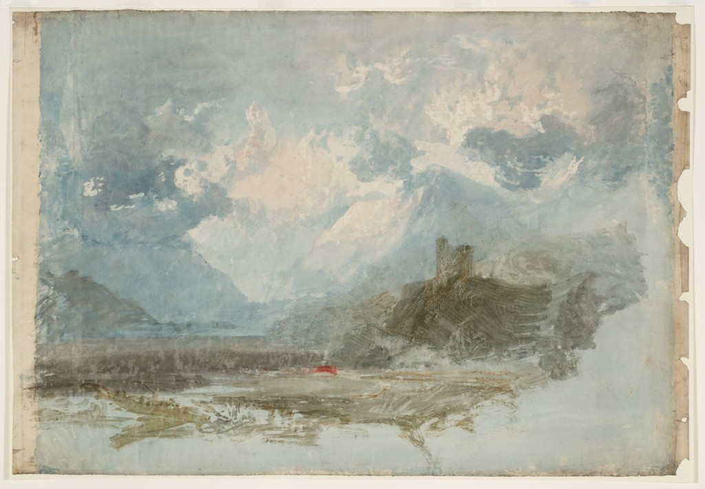 Dolbadarn Castle: Colour Study 1798-9 by Joseph Mallord William Turner 1775-1851